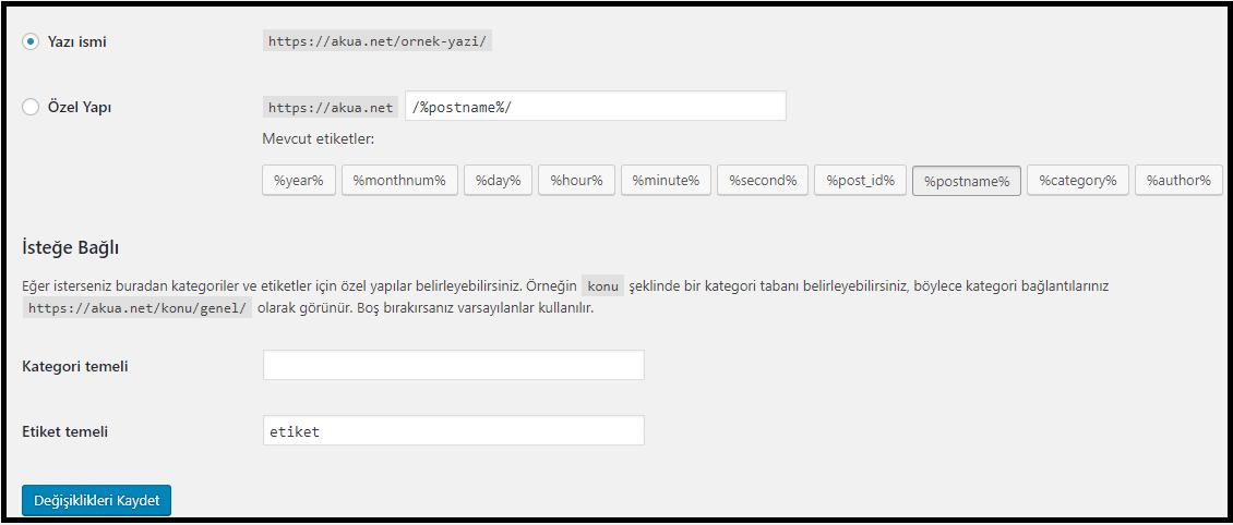 URL Yapısı